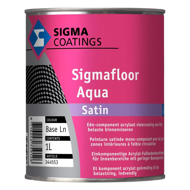 Sigma Floor Aqua Satin 1 Liter