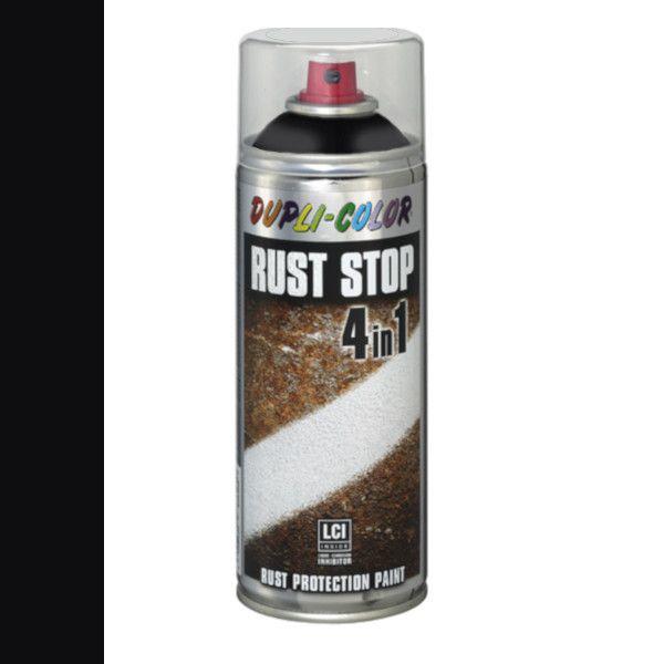 Dupli Color Rust Stop 4 in 1 Satin Matt RAL 9005 Diepzwart 400 ml
