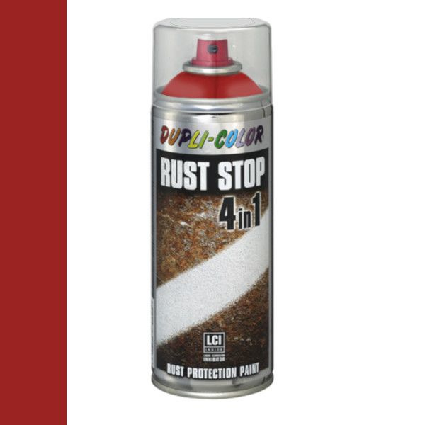 Dupli Color Rust Stop 4 in 1 Satin Matt RAL 3002 Karmijnrood 400 ml