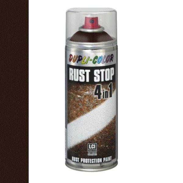 Dupli Color Rust Stop 4 in 1 Satin Matt RAL 8017 Bruin 400 ml