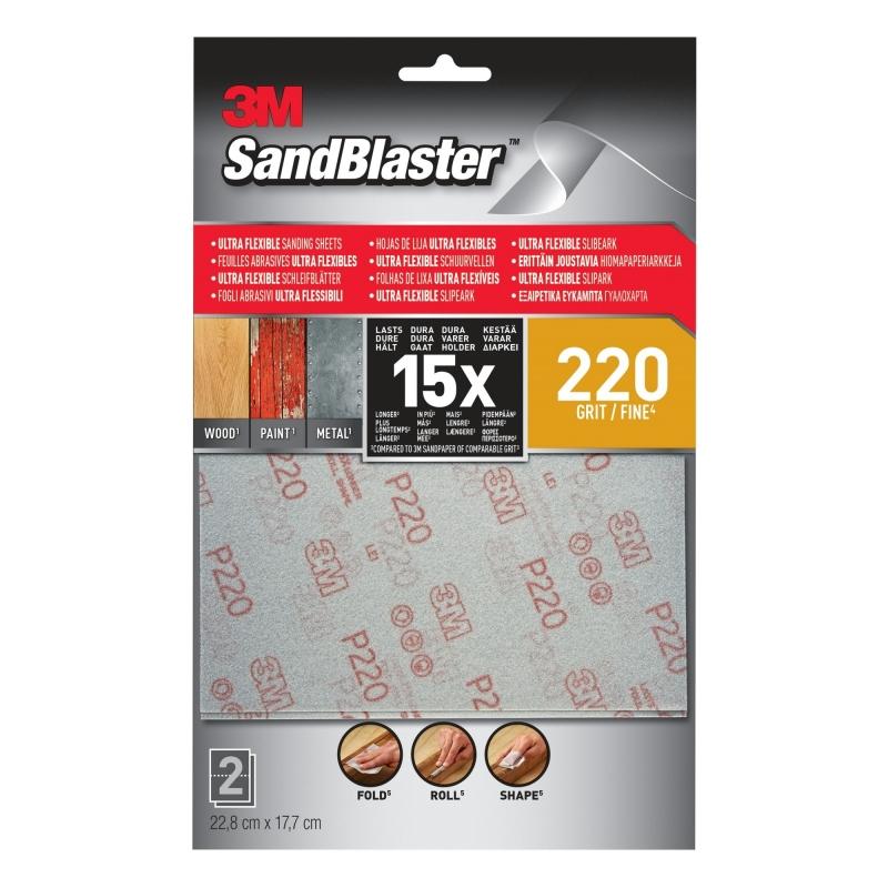 3M Sandblaster Schuurpapier Flexibel 2 vel