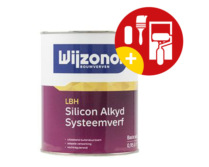 Wijzonol LBH Silicon Alkyd Systeemverf 1 Liter