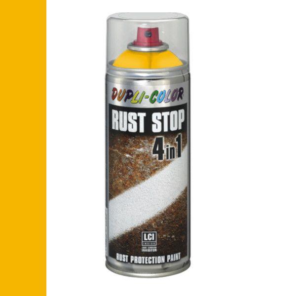 Dupli Color Rust Stop 4 in 1 Satin Matt RAL 1021 Koolzaadgeel 400 ml