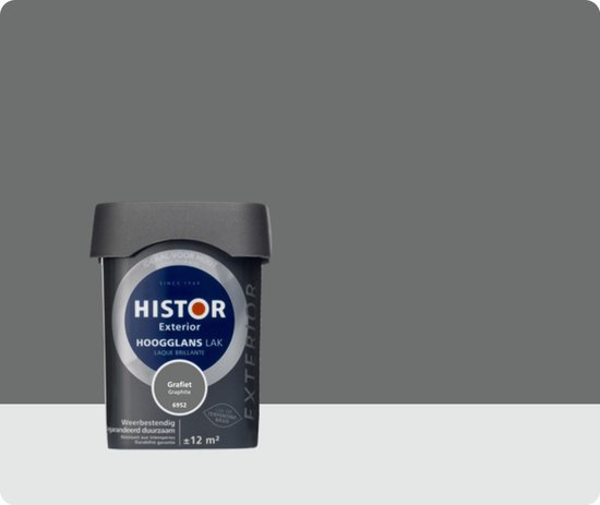 Histor Exterior Lak Hoogglans 6952 Grafiet 750 ml