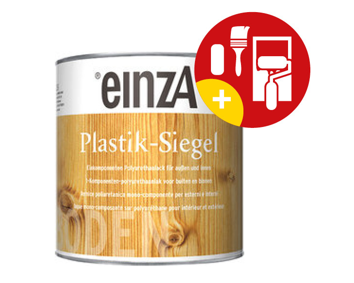 einzA Plastik Siegel PU Hoogglans Kleurloos 750 ml