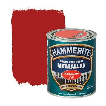 Hammerite Metaallak Zijdeglans Rood Z240 750ml