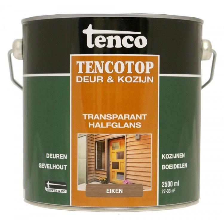 Tencotop Deur & Kozijn Transparant Halfglans Eiken 2,5 Liter