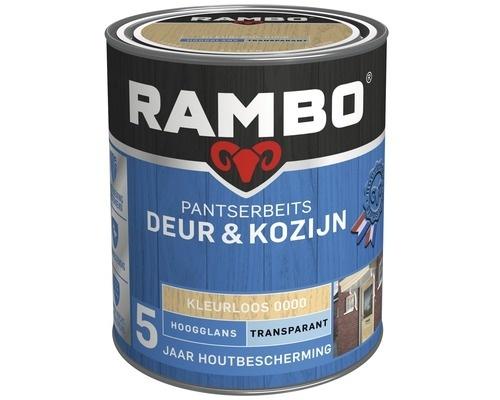 Rambo Pantserbeits Deur en Kozijn Transparant Hoogglans Kleurloos 0000 2,5 Liter