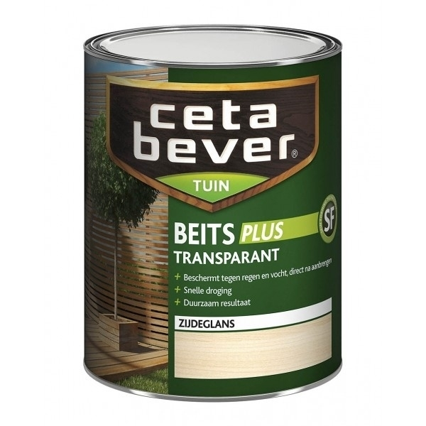CetaBever Tuinbeits Plus R³  Transparant Zijdeglans Grenen 077 750 ml