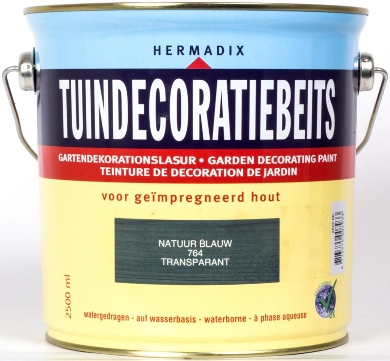 Hermadix Tuindecoratiebeits 764 Natuur Blauw Transparant 2,5 Liter