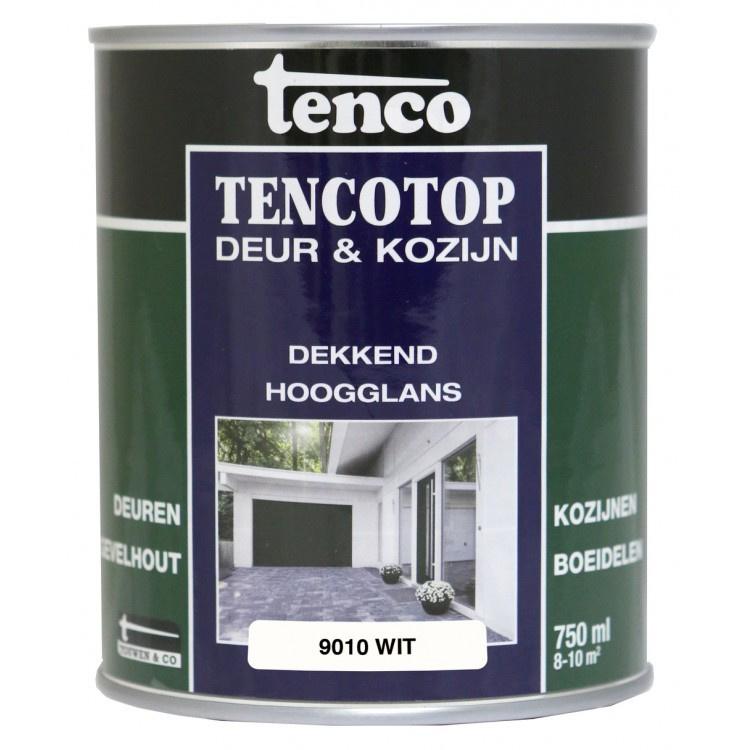 Tencotop Deur & Kozijn Dekkend Hoogglans RAL 9010 Wit 750 ml