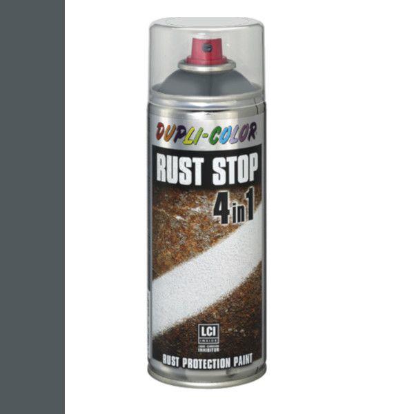 Dupli Color Rust Stop 4 in 1 Satin Matt RAL 7011 Staalgrijs 400 ml