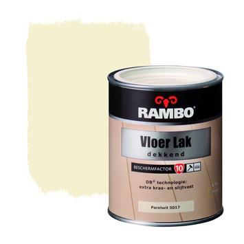 Rambo Vloer Lak Dekkend Zijdeglans 5017 RAL 1013 Parelwit 750 ml