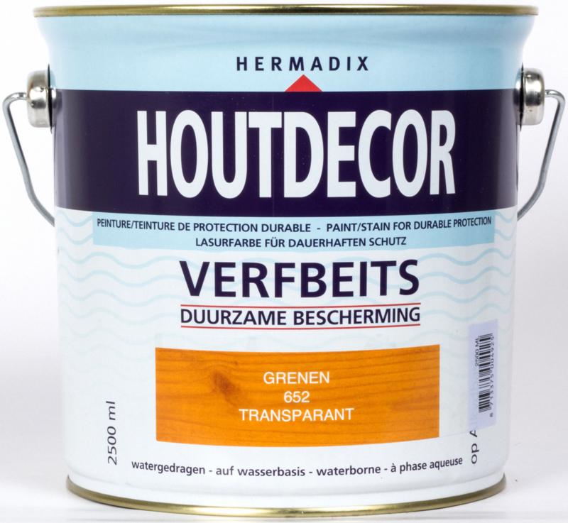 Hermadix Houtdecor Verfbeits Transparant 652 Grenen 2,5 Liter