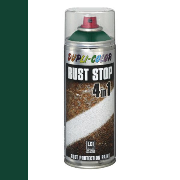 Dupli Color Rust Stop 4 in 1 Satin Matt RAL 6005 Mosgroen 400 ml