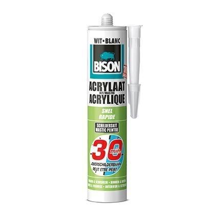 Bison Acrylaatkit 30 minuten Overschilderbaar Wit 310 ml