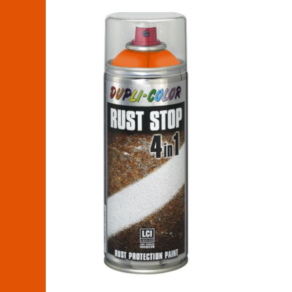 Dupli Color Rust Stop 4 in 1 Satin Matt RAL 2004 Helder Oranje 400 ml