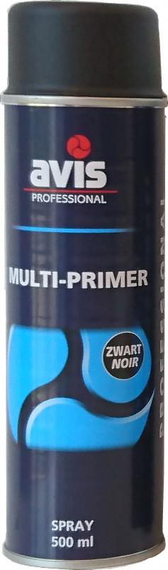 Avis Professional Multi-Primer Spray Zwart 500 ml