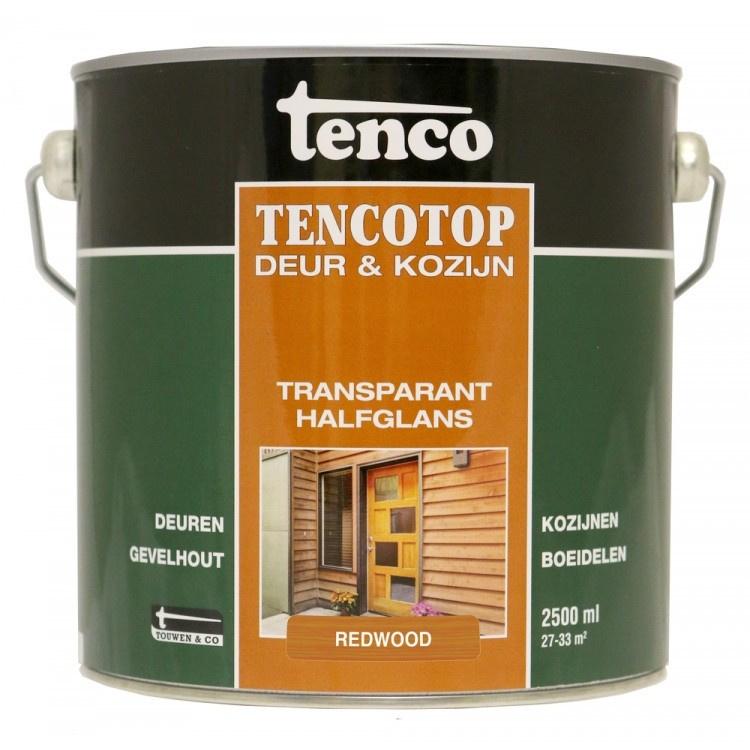 Tencotop Deur & Kozijn Transparant Halfglans Noten 2,5 Liter
