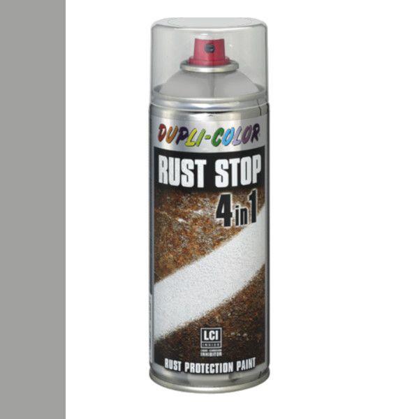 Dupli Color Rust Stop 4 in 1 Satin Matt RAL 9006 Wit Aluminium 400 ml