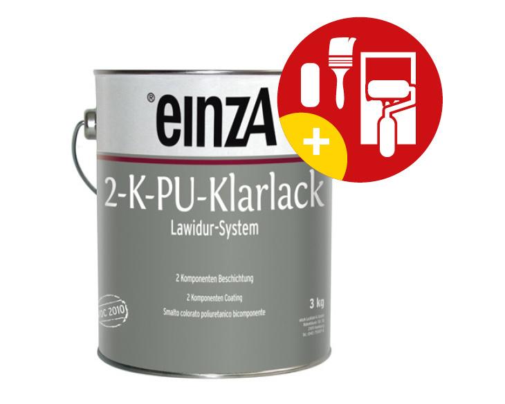 einzA Lawidur 2K PU Blanke Lak Hoogglans 1 Kg