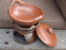 Fair trade stoofpotje van aardewerk