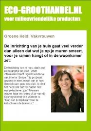 Groene Held in nieuwsbrief Eco-logisch.