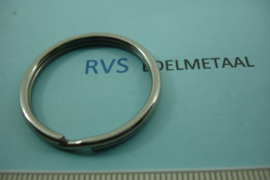 [ 8544 ] RVS  Split ring  32 mm.  per 2 stuks