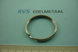 [ 8542 ]  RVS  Split ring  24 mm.  per 2 stuks