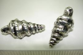 [ 1143 ] Schelp 32 mm. Zilverkleur, per stuk