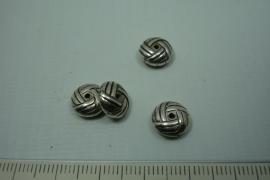 [ 0797 ] Rondel 10 mm. Oud Zilver, per stuk