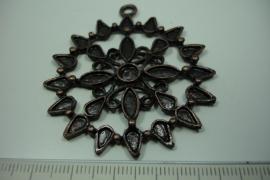 [ 6181 ] Ornament 50 mm.nr. 26, Koperkleur, per stuk