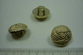 [ 0891 ] sluit Knoop 15 mm. Kunstof, Goud, per stuk