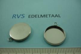 [ 8535 ] RVS  Hanger setting 14 mm.  per  2 stuks