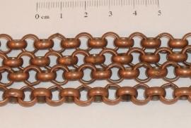 (0203) Jasseron 7 mm koper. 1 mtr.