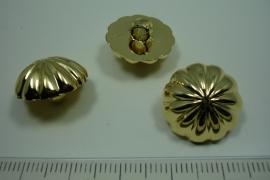 [ 0886 ] sluit knoop 18 mm. Kunstof, Goud, per stuk