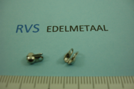 [ 8404 ]  RVS,  Zij klap kalotje inw. 2.4 mm.  per 10 stuks