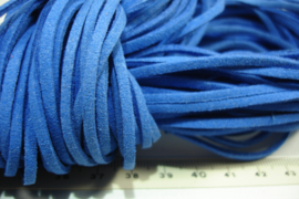 [ 6078 ] Plat Suede Veter 2.8 mm. Blauw, per meter