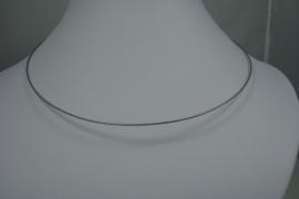 [0711 ] Spang 43 cm. Zilver/Grijs, met glad  slot, per stuk
