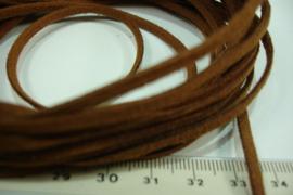 [ 6020 ] Suede veter 2.9 mm. Roest Bruin, 5 meter