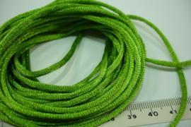 [ 5567 ] Satijn koord 2 mm. Licht Groen, 5 meter