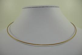 [ 1161 ] Spang 43 cm. met draai slotje, Geel Goud, per stuk