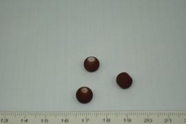 [0343 ] Glas kraal met rubber 8 mm. Bruin