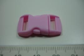 [ 0864 ] Klik slot 28.5 x 14.5 mm. Roze, per stuk
