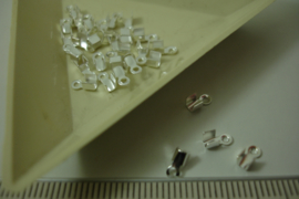 [ 7035 ] Veterklem 2 mm. Verzilverd, 30 stuks