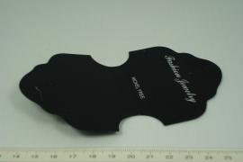 [5262 ] Ketting en oorbel kaartje plastic,   10 stuks