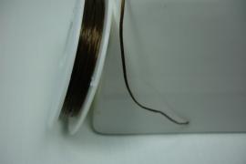 [8202 ] Meerdradig Elastich Nylon, Bruin, 10 meter