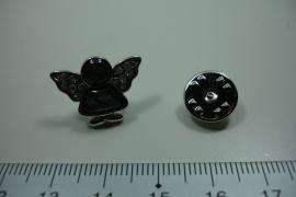 [ 6335 ] Bescerm Engel 2 x 1.6 cm. revèr pin, met Paua schelp, per stuk