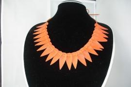 [OR,011] Hals Ketting Oranje