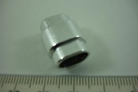 [ 8495 ] Magneet slot 10 x 7 mm. inw. Zilver kleur, per stuk